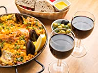 Paella or Four Tapas Dishes to Share with Sides and Cava for Two People