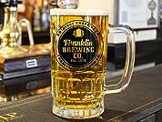 Personalised Glass Beer Tankard