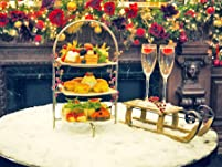 Festive Afternoon Tea with Optional Champagne for Two People