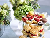 Festive Afternoon Tea with Mulled Wine and Christmas Treats for Two People