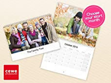 Personalised Wall Calendar in Choice of Sizes