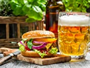 Gourmet Burgers with a Craft Beer or a Bellini Cocktail for Two or Four People