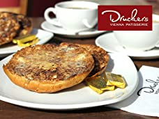 Druckers Vienna Patisserie Tea and Teacakes for Two People