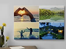 A Choice of Personalised Photo Canvases Including Delivery