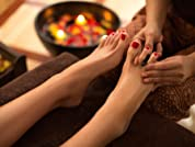 Glossy Shellac Nail Treatments With Polish