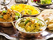 Indian Banquet with Seafood Option for Two or Four People