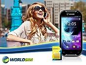Dual SIM Phone that Works Worldwide with Global SIM Card & £20 Credit