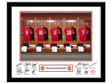 Personalised Football Club Dressing Room Framed Picture