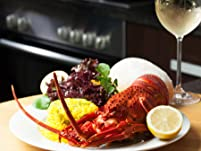 Whole Lobster with a Glass of Prosecco Each for Two People