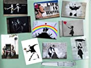 Banksy Street Art 10 Piece Magnet Set