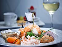Three-Course Seafood Meal with a Glass of Wine for Two People