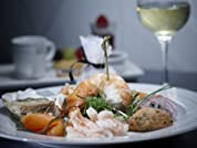 Seafood Platter, Wine, Coffee and Petit Fours for One or Two People