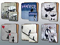 Banksy Street Art Placemat and Coaster Set
