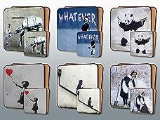 Banksy Street Art Placemat and Coaster Set